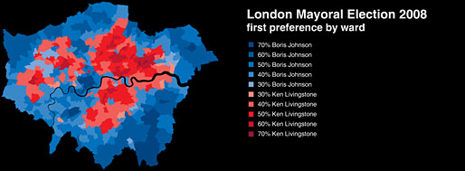 The Blue Doughnut | London 2008 Elections