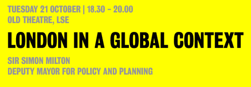 London in a Global Context | Simon Milton Lecture | October 21, 2008