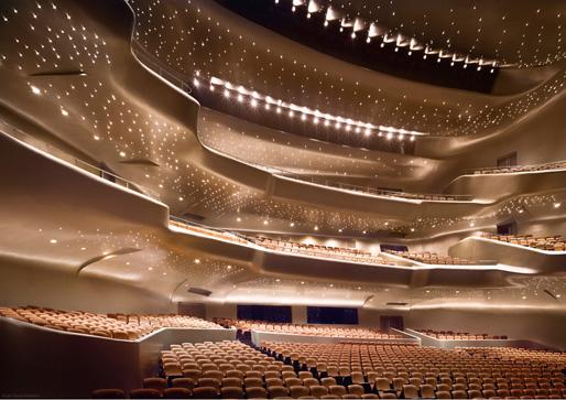 Guangzhou Opera House by Zaha Hadid Architects [source; Zaha Hadid Architects]