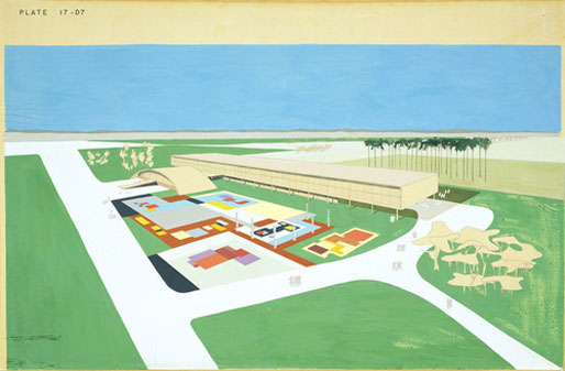 Ibirapuera Park Project, São Paulo, Brazil, Perspective [source; moma collection]