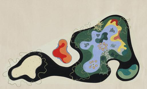 Landscape Design for Saenz Pena Square [1948]