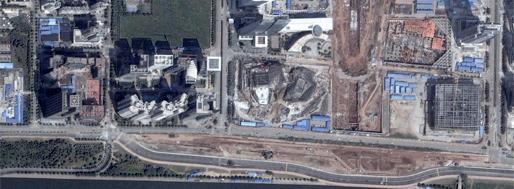 Guangzhou Opera House (center of image) | GoogleMaps
