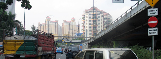 Jakarta from the back of a motorcycle   October 14, 2008