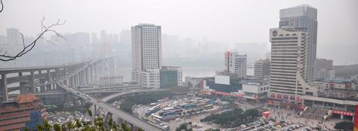 in & around Jiefangbei CBD area in Chongqing 重庆 | January 17-20, 2013