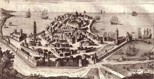 Giambattista Albrizzi, La città di Bari, 1761 | viaggioadriatico.it