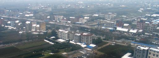 Hangzhou seen from flight CA1509 | Hangzhou, February 11, 2008
