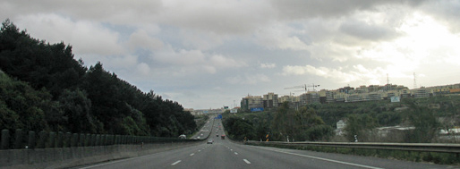 Driving through Portugal   Tomar - Lisbon   March 22, 2008