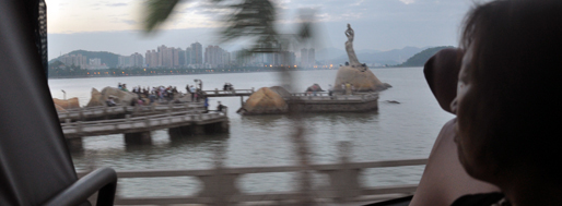 Zhuhai Eastern waterfront at Xianglu Bay: 'Statue of the Fisher Girl' | November 6, 2009