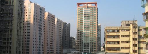 Surrondings of Istmo Ferreira do Amaral or Guan Zha Ma Lu, Macau | January 21
