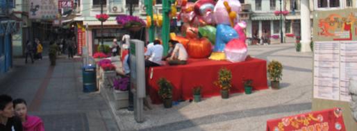 Largo dos Bombeiros & Rua da Cunha, Taipa Village   Macau, January 22