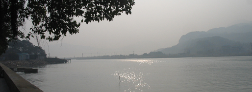 View over Hengqin Island (Zhuhai) from Av. 5 Outubro   Macau, January 22