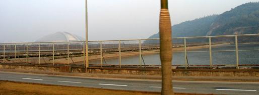Gate to the Statue of the Godness A-Má & East Asian Games Dome   Macau, January 22