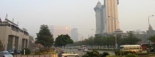 Cotai-Strip seen from Taipa   Macau, January 22