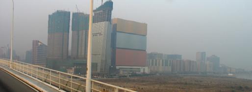 Macau-Taipa Bridge, overlooking MGM Grand  Macau, January 22
