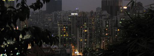 90 metres above sea level, Macau by night   January 23