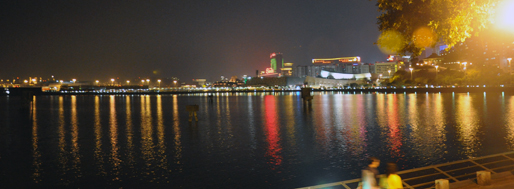 Macau Outer Harbour reservoir by night | November 5, 2009