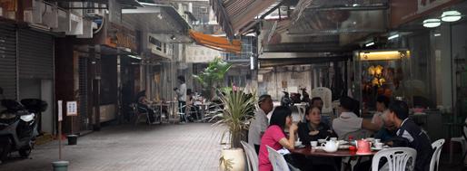 Alley near Avenida D Joao IV  (left: Caravela Portuguese restaurant) | November 6, 2009