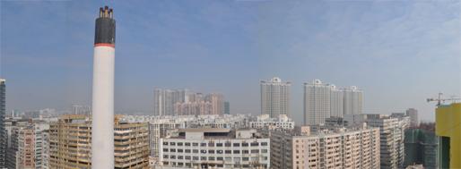 Rooftop view from Estrada de D. Maria II, Macau   November 6, 2009