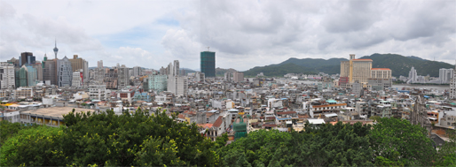 View from Monte Fortress   Macau, July 3, 2009