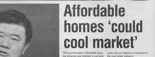 Affordable homes 'could cool market'   Shanghai Daily, March 6, 2011