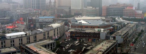 Tianyi City Plaza, view from Yongyao Hotel   Ningbo