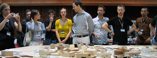 Ordos100 architects mesmerized by masterplan model