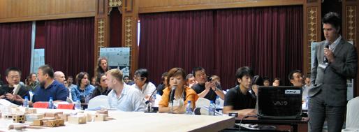 Wang Shu [left, 2012 Pritzker Prize] and Alejandro Aravena [right, 2016 Pritzker Prize] | Ordos, June 2008