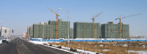 Ordos under construction | Ordos, 2008