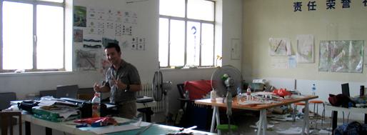 Last minute preparations at crossboundaries studio | Beijing, June 19 2009