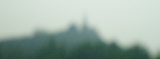 Beijing on day of fog