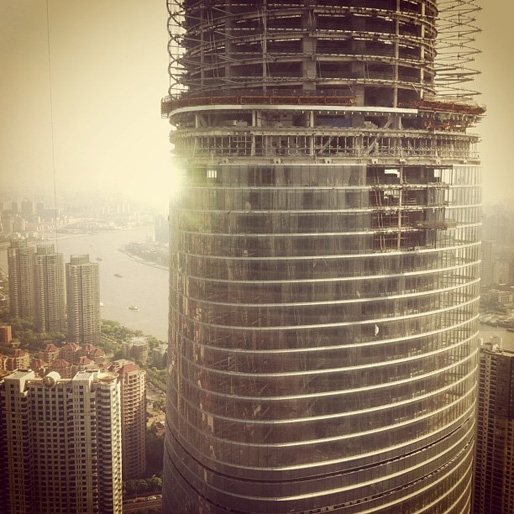 Shanghai Tower by Gensler | under construction | instagram by movingcities_org April 27 2013