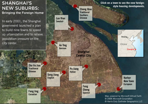 Old Map of Shanghai's New Suburbs | image: © 2006 NPR