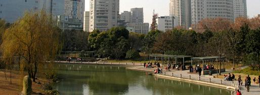 Urban park inside triangle of Hengshan Lu, Wanping Lu and Zhojiabang Lu | Shanghai
