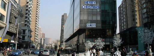 Hypermalls, offices and highways, Xujiahui subway station | Shanghai