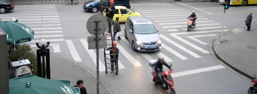 Area around crossing of Yan'an Xi Lu and Jiangsu Lu | Shanghai