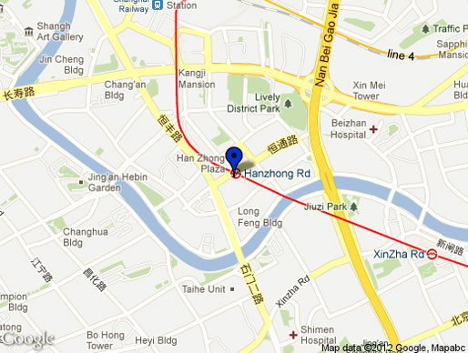 Hanzhong subway station area | GoogleMaps