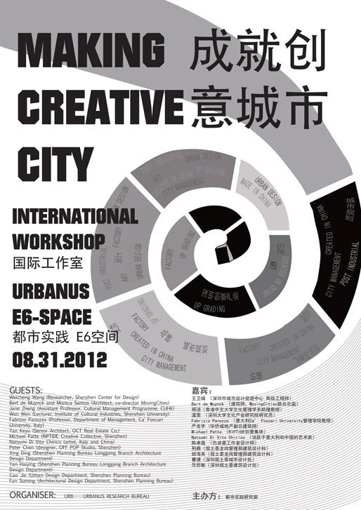 MAKING CREATIVE CITY International Workshop | Aug 31 - Sept 1 2012